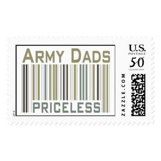 Army Dads Priceless Bar Code Postage