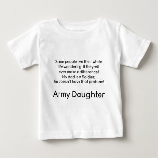 Army Daughter Dad No Problem Baby T-Shirt