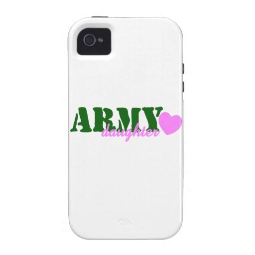 Army Daughter Green Pink Heart Case-Mate iPhone 4 Case