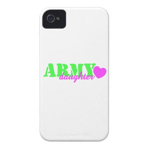 Army Daughter Lime Green Pink Heart Case-Mate iPhone 4 Case