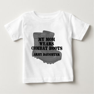 Army Daughter Mom Combat Boots Tee Shirts