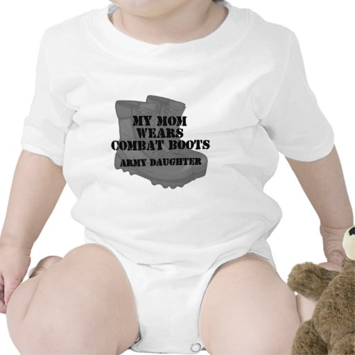 Army Daughter Mom Combat Boots Romper