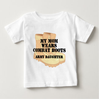 Army Daughter Mom Desert Combat Boots T Shirt