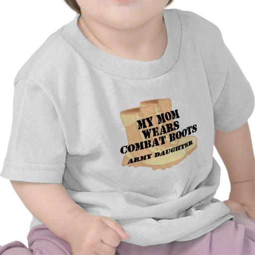Army Daughter Mom Desert Combat Boots Shirt