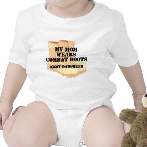Army Daughter Mom Desert Combat Boots Romper