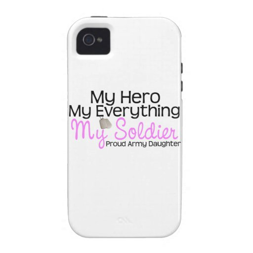 Army Daughter My Hero iPhone 4/4S Case