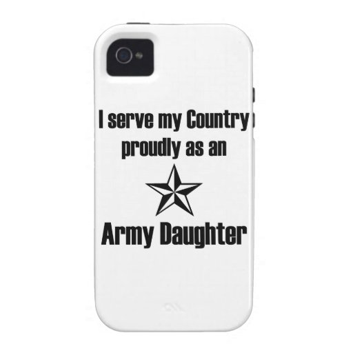 Army Daughter Serve iPhone 4/4S Cover
