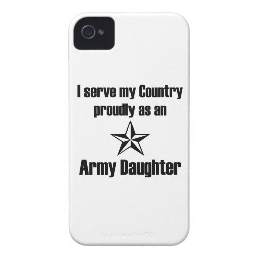 Army Daughter Serve iPhone 4 Cover