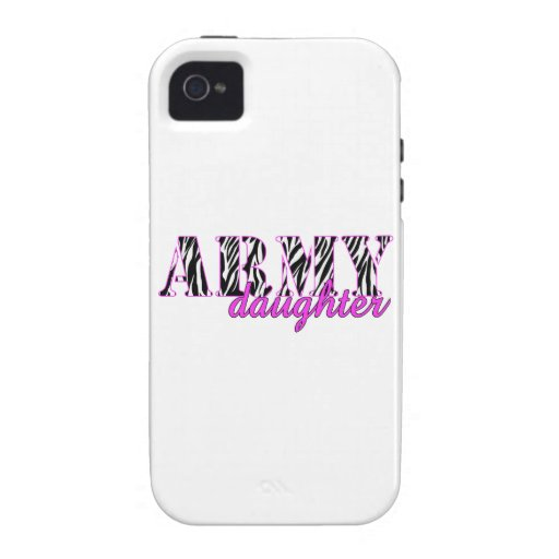 Army Daughter Zebra Vibe iPhone 4 Cases
