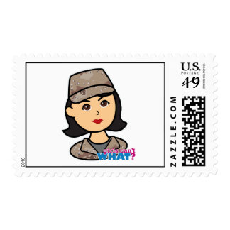 Army Desert Camo Head Medium Stamp