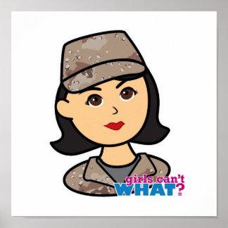 Army Desert Camo Head Medium Poster