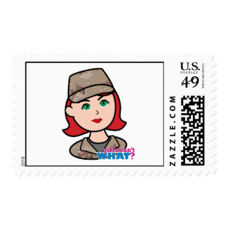 Army Desert Camo Head Red Postage Stamps