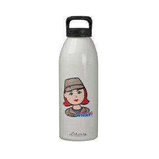 Army Desert Camo Head Red Reusable Water Bottle