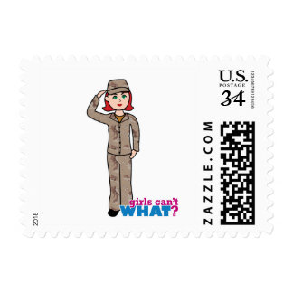 Army Desert Camo Red Postage