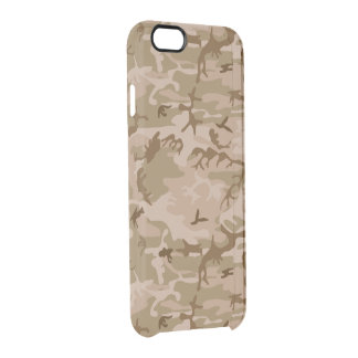 Army Desert Camouflage Clear iPhone 6/6S Case