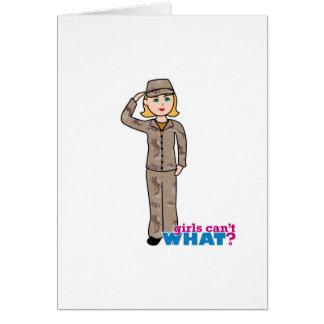Army Desert Camouflage Girl Card