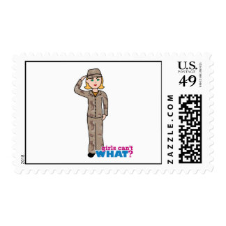 Army Desert Camouflage Girl Postage Stamp