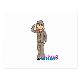 Army Desert Camouflage Girl Postcard