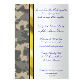 Army Digital Camouflage Wedding Invitation