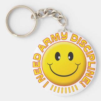 Army Discipline Smiley Key Chain