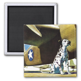 Army Dog 2 Inch Square Magnet