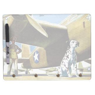 Army Dog Dry Erase Board With Keychain Holder