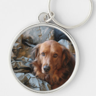 Army Dog Keychain