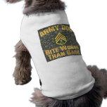 Army Dog, skull and crossbones Dog Tshirt