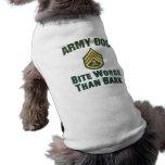 Army Dog, skull and crossbones Doggie T Shirt