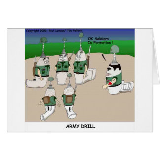 Army Drill Funny Cartoon Gifts Tees & Collectibles Card
