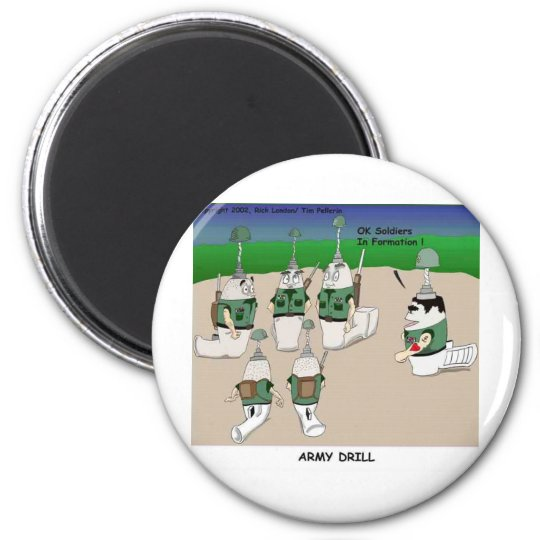 Army Drill Funny Cartoon Gifts Tees & Collectibles Magnet