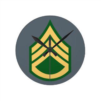 Army E-6 Staff Sergeant Round Clock