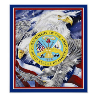 Army Eagle Poster