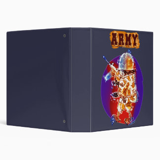 army eagle soldier cartoon style 3 ring binder