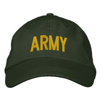 ARMY EMBROIDERED BASEBALL HAT