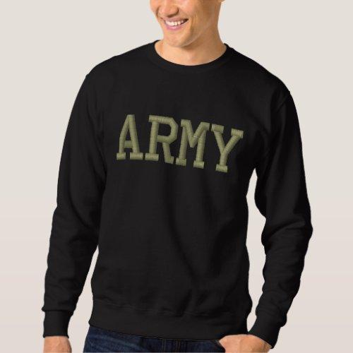 ARMY EMBROIDERED SWEATSHIRT
