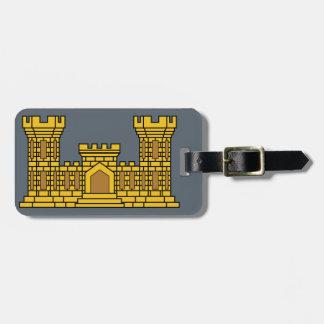 Army Engineer Insignia Luggage Tag