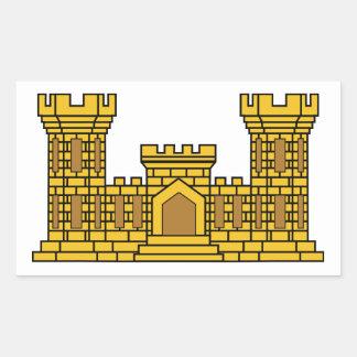 Army Engineer Insignia Rectangular Sticker
