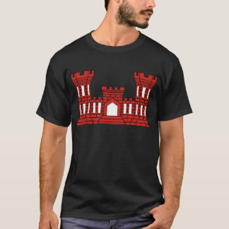 Army Engineer Insignia - Red T-Shirt
