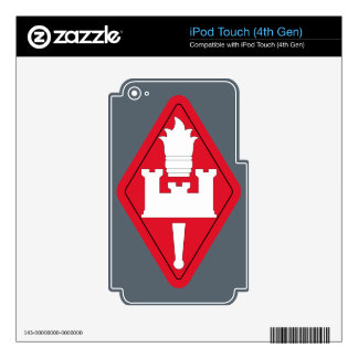 Army Engineer School Brigade Decal For iPod Touch 4G