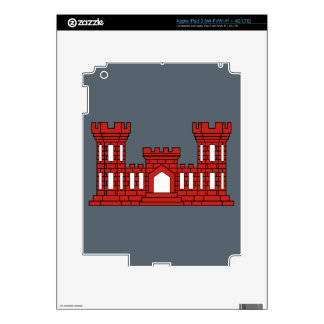 Army Engineers - Red Decals For iPad 3