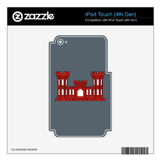 Army Engineers - Red Decals For iPod Touch 4G