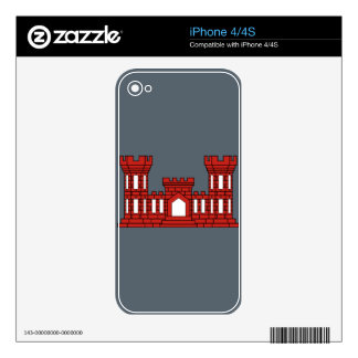 Army Engineers - Red iPhone 4S Decals