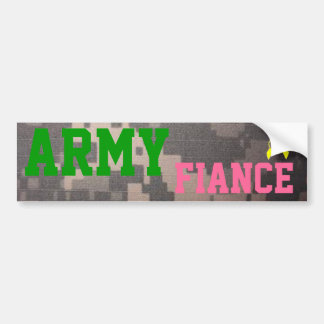 Army Fiance Bumper Sticker