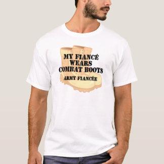 Army Fiancee Desert Combat Boots T-Shirt