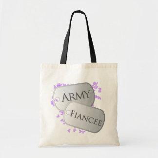 Army Fiancee Dog Tags Canvas Bag
