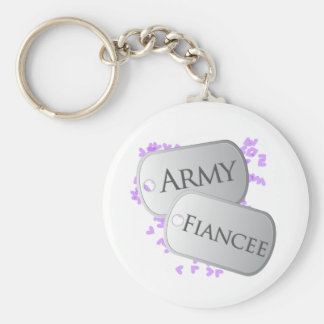 Army Fiancee Dog Tags Keychain