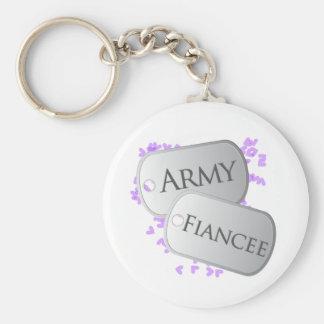 Army Fiancee Dog Tags Keychains