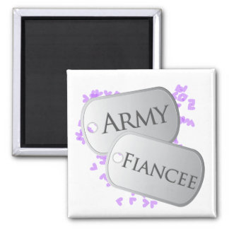 Army Fiancee Dog Tags Magnet