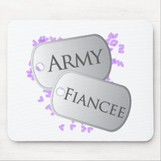 Army Fiancee Dog Tags Mouse Pad